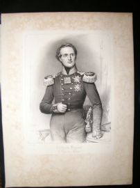 After Joseph Stieler C1840 LG Folio Print. Frirdrich August, King of Saxony